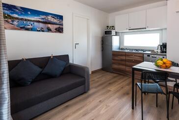 Vodice, Гостиная в размещении типа apartment, Домашние животные допускаются и WiFi.