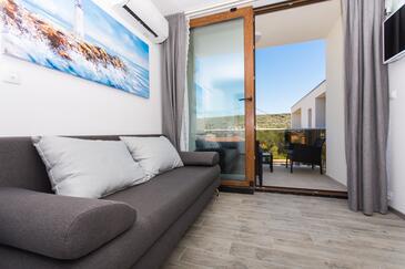 Drvenik Veliki, Гостиная в размещении типа apartment, доступный кондиционер, Домашние животные допускаются и WiFi.