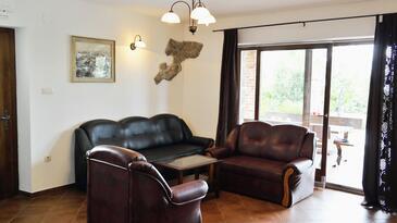 Poljica, Obývacia izba v ubytovacej jednotke house, klimatizácia k dispozícii a WiFi.