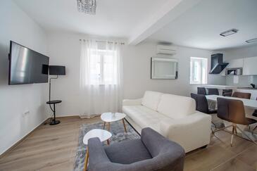 Bibinje, Obývací pokoj v ubytování typu apartment, WiFi.