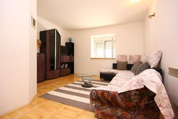 Jadrtovac, Obývací pokoj v ubytování typu house, WiFi.