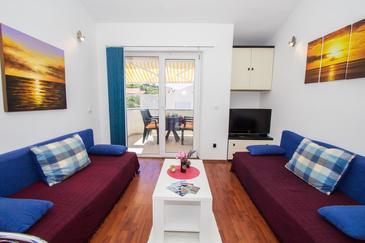 Murter, Гостиная в размещении типа apartment, Домашние животные допускаются и WiFi.
