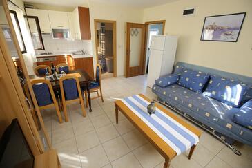 Mali Iž, Obývací pokoj v ubytování typu apartment, WiFi.