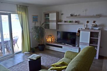 Kneža, Obývací pokoj v ubytování typu apartment, WiFi.