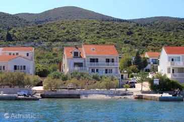 Kneža, Korčula, Objekt 166 - Ubytování v blízkosti moře s oblázkovou pláží.