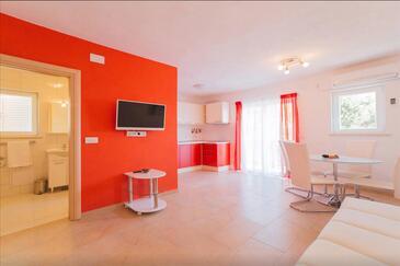Stanići, Obývací pokoj v ubytování typu apartment, WiFi.