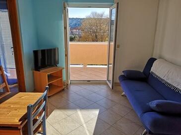 Lopar, Obývací pokoj v ubytování typu apartment, s klimatizací, domácí mazlíčci povoleni a WiFi.