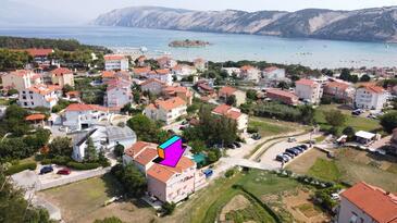 Lopar, Rab, Objekt 16680 - Ubytování s písčitou pláží.