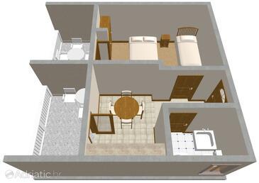 Kneža, Plan in the apartment, WiFi.