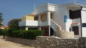 Povljana, Pag, Property 16704 - Apartments near sea with pebble beach.