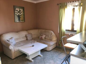 Barbat, Dnevni boravak u smještaju tipa apartment, dostupna klima, kućni ljubimci dozvoljeni i WiFi.