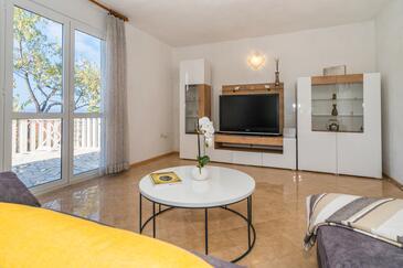 Nečujam, Гостиная в размещении типа apartment, доступный кондиционер и WiFi.