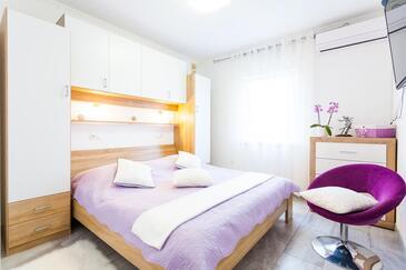Vela Luka, Ložnice v ubytování typu room, s klimatizací a WiFi.
