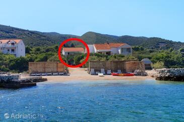 Kneža, Korčula, Objekt 168 - Ubytování v blízkosti moře s oblázkovou pláží.
