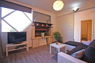 Fažana, Obývací pokoj v ubytování typu apartment, s klimatizací a WiFi.