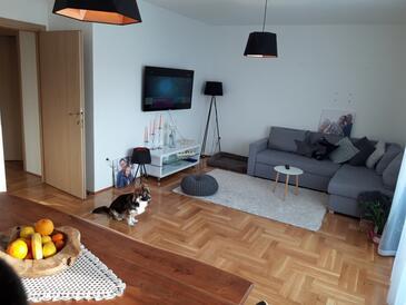 Makarska, Obývací pokoj v ubytování typu apartment, WiFi.