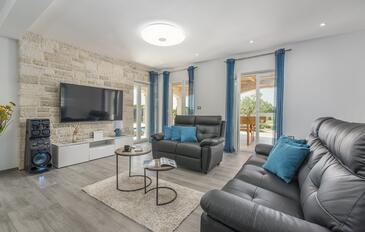 Vodnjan, Obývací pokoj v ubytování typu house, s klimatizací a WiFi.