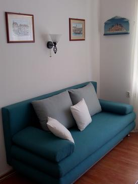 Split, Living room in the apartment, air condition available, (pet friendly) and WiFi.
