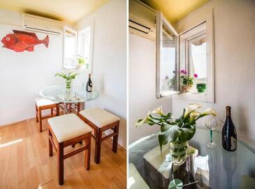 Split, Blagovaonica u smještaju tipa apartment, dostupna klima, kućni ljubimci dozvoljeni i WiFi.
