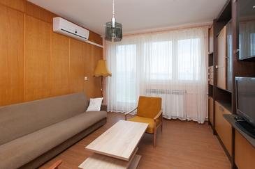 Crikvenica, Pokój dzienny w zakwaterowaniu typu apartment, Dostępna klimatyzacja i WiFi.