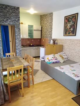 Vir - Lozice, Living room in the studio-apartment, (pet friendly) and WiFi.