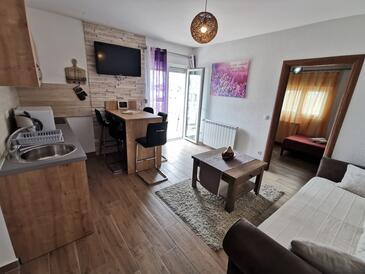 Vodice, Гостиная в размещении типа apartment, доступный кондиционер и WiFi.