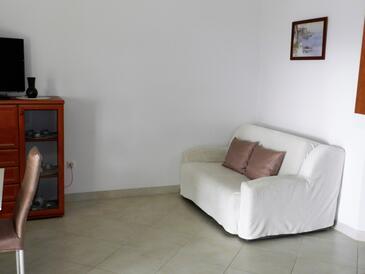 Sveti Vid, Obývací pokoj v ubytování typu apartment, s klimatizací, domácí mazlíčci povoleni a WiFi.