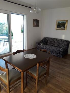 Barbat, Pokój dzienny w zakwaterowaniu typu apartment, Dostępna klimatyzacja, zwierzęta domowe są dozwolone i WiFi.
