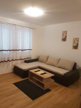 Novi Vinodolski, Obývací pokoj v ubytování typu apartment, WiFi.
