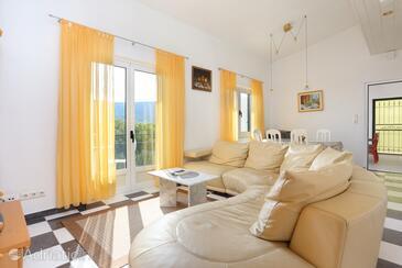 Poljica, Obývací pokoj v ubytování typu apartment, s klimatizací, domácí mazlíčci povoleni a WiFi.