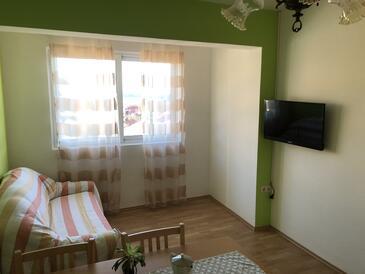 Kampor, Obývací pokoj v ubytování typu apartment, domácí mazlíčci povoleni a WiFi.