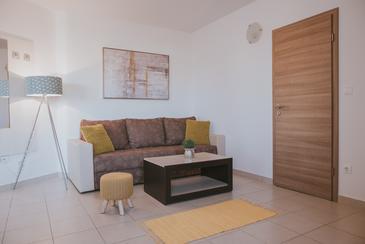 Novalja, Living room in the apartment, WiFi.