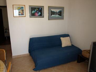 Stara Novalja, Гостиная в размещении типа apartment, доступный кондиционер.