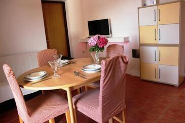 Betina, Столовая в размещении типа apartment, доступный кондиционер и WiFi.
