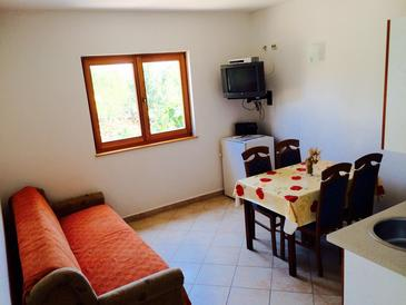 Vinišće, Living room in the apartment, air condition available and WiFi.