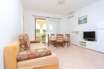Oštrička luka, Obývací pokoj v ubytování typu apartment, s klimatizací, domácí mazlíčci povoleni a WiFi.