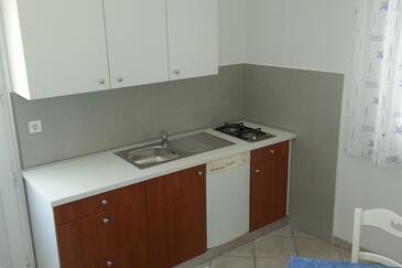 Novi Vinodolski, Kuchyně v ubytování typu apartment, s klimatizací a WiFi.