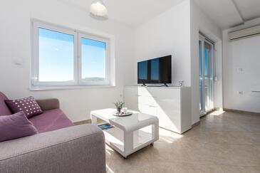 Tisno, Гостиная в размещении типа apartment, Домашние животные допускаются и WiFi.