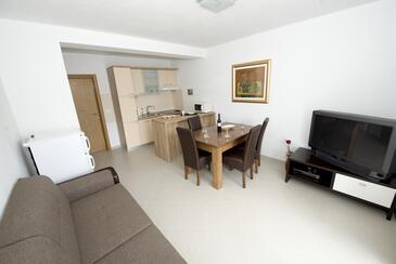 Promajna, Camera di soggiorno nell'alloggi del tipo apartment, WiFi.