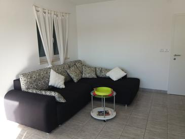 Stara Novalja, Obývací pokoj v ubytování typu apartment, WiFi.