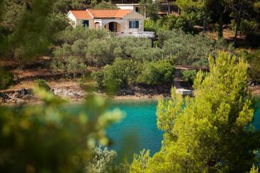 Gabrica, Korčula, Objekt 17195 - Kuća za odmor blizu mora sa šljunčanom plažom.