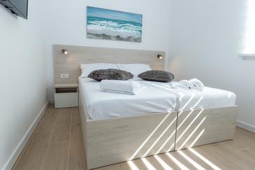 Novalja, Ložnice v ubytování typu room, s klimatizací a WiFi.