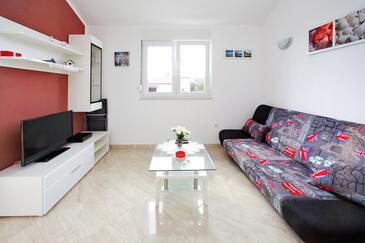 Bibinje, Dnevna soba v nastanitvi vrste apartment, dostopna klima in WiFi.