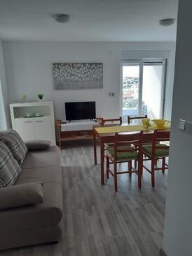 Zatoglav, Гостиная в размещении типа apartment, доступный кондиционер и WiFi.