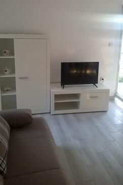 Zatoglav, Obývacia izba v ubytovacej jednotke apartment, klimatizácia k dispozícii a WiFi.