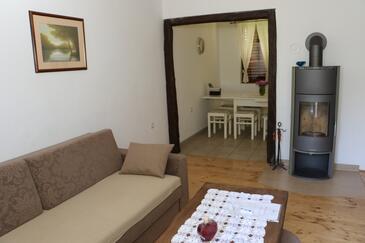 Korenica, Obývací pokoj v ubytování typu house, WiFi.