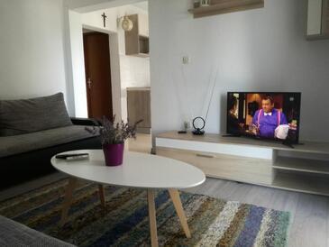 Zatoglav, Dnevni boravak u smještaju tipa apartment, dostupna klima, kućni ljubimci dozvoljeni i WiFi.