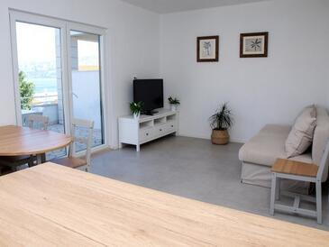 Postira, Гостиная в размещении типа apartment, Домашние животные допускаются и WiFi.