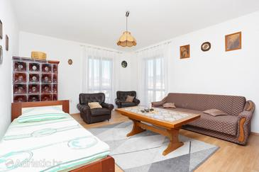 Arbanija, Гостиная в размещении типа apartment, WiFi.