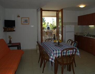 Klanice, Obývací pokoj v ubytování typu apartment, s klimatizací, domácí mazlíčci povoleni a WiFi.